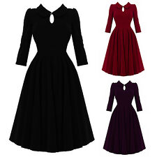 Hearts & Roses London Lux Velvet Fit and Flare 1950s Vintage Retro Party Dress