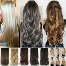 Deluxe Remy Thick Clip In hair Extensions Brown Blonde piece As Human Hair Msh