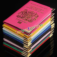 Women Travel Passport Holder  Leather Cover ID Credit Card Holder Wallet BA