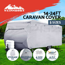 Heavy Duty 16-24ft 4 Layer Caravan Campervan Cover UV Waterproof 5 Sizes