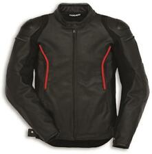 Ducati Stealth C2 Leather Motorcycle Jacket Black by Dainese