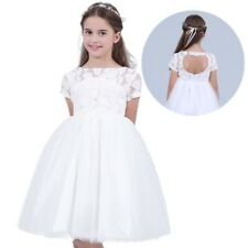 Formal Lace Baby Princess Bridesmaid Flower Girl Dresses Kid Wedding Party Tutu