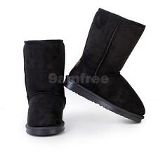 Classic Womens Girls Mid Calf Flat Heel Snow Boots Winter Warm Shoes US 5.5 -7.5