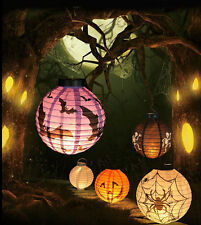 DIY Party Scary LED Bat Pumpkin Hanging Paper Lantern Halloween Festival Decor