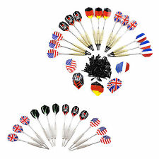 12pcs/15pcs Soft Tip Darts / Steel Needle Tip Darts With National Flags Flights