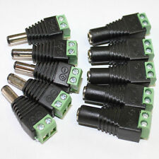 5X DC 12V Power Supply Plug Adapter Connector for 5050 3528 LED Strip Light Lot