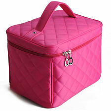 Women Beauty Makeup Cosmetic Case Train Toiletry  Large Organizer Storage Bag