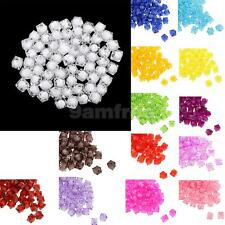 100pcs Square Acrylic Faceted Loose Spacer Beads Fashion DIY Jewelry Making Bead