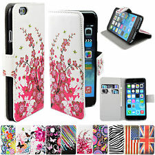 Flip Leather Stand Cards Wallet Phone Accessory Cover Case For iphone HTC Phones