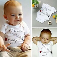 Baby Boy Girl Jumpsuit Toddler Outfit One Piece New Infant Rompers Bodysuit W4Y0