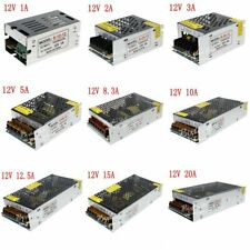 AC to DC 12V Regulated Switching Power Supply LED Driver Transformer Voltage NEW