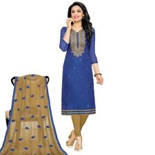 Designer Silk Embroidered Salwar Kameez Suit Dress Ready to Wear-Neckline-1009