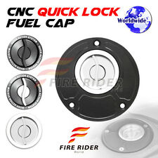 FRW BK/SI CNC Quick Lock Fuel Cap For Ducati 848 1098 1198  All Year 07 08 09 10