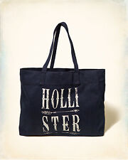 HOLLISTER LOGO GRAPHIC TOTE BEACH BAG (CHOOSE DESIGN) NAVY RED NATURAL NWT