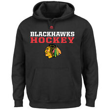 Chicago Blackhawks Majestic Feel The Pressure Pullover Hoodie - Black - NHL
