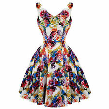 Hearts & Roses London Floral Princess Retro Vintage 1950s Flared Party Tea Dress