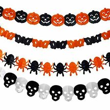 Halloween Paper Chain Garland Decor Prop Shape Scary Paper Chain Decor 1 Pack