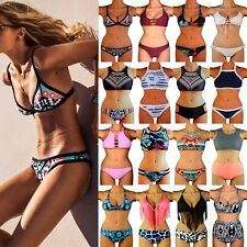 Women Bandage Monokini Bikini Set Push Up Padded Bra Swimsuit Swimwear UK STOCK