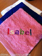 PERSONALISED BABY, CHILD, FLANNEL/FACE CLOTH, KEEPSAKE, EMBROIDERED GIFT