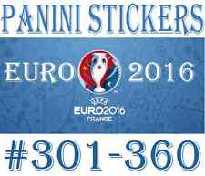 #301-360 Panini Euro 2016 STICKERS - Choose your sticker incl foil / badge