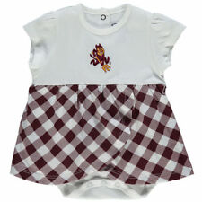 Arizona State Sun Devils Infant Miranda Gingham Print Dress - Maroon - NCAA