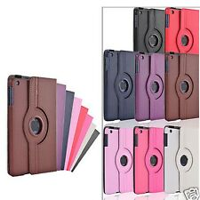 LEATHER CASE COVER WITH 360 DEGREE ROTATING STAND FOR APPLE IPAD MINI SOLID
