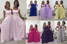 New Chiffon  Long Formal Party Wedding Prom Evening Bridesmaid Dress Ball Gown