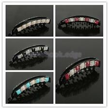 Women Girls Crystal Rhinestone Barrette Claw Banana Ponytail Hair Clips Clamps