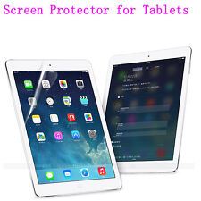 Clear Glossy Screen Protector Guard Film For Various Tablet  PC With Cloth Lot