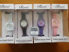 New Ravel Fashion Quartz Watches Expandable Strap FREE Battery And Earings