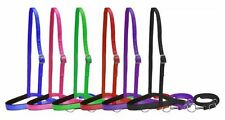 WESTERN BARREL RODEO & GYMKHANA HORSE HEAVY NYLON NOSEBAND & TIE DOWN - COLORS!
