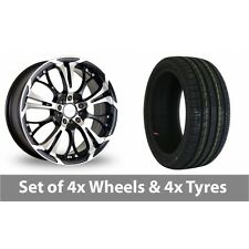 """4 x 18"""" Dare Ghost Black Polished Alloy Wheel Rims and Tyres -  215/35/18"""