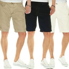 JET LAG Chino Shorts Take off 6 with belt in black, vintage khaki, white sand