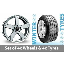 "4 x 15"" Wolfrace Kodiak Polar Silver Alloy Wheel Rims and Tyres -  185/65/15"