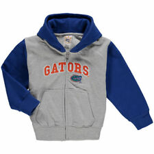 Florida Gators Infant Raglan Full-Zip Fleece Hoodie - Gray/Royal - NCAA