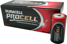 BOX OF 10 X DURACELL PROCELL BATTERIES SIZE D BRAND NEW
