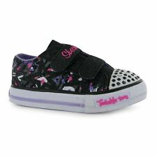 Skechers Kids Twinkle Toes Shoes Infant Girl Flat Velcro Casual Fashion Trainers