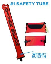Scuba Diving Safety Tube / Safety Sausage / Inflatable weighted Tube for Divers