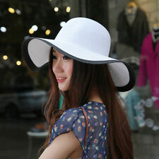 Women Ladies Wide Large Brim Cap Floppy Fold Summer Sun Straw Beach Hat New