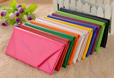 Fashion Women Envelope Purse Wallet Clutch Faux Leather Pocket Hand Bag 9 Colors