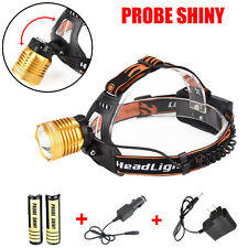 5000LM XM-L T6 LED Headlamp Zoomable Head Light Torch+2 X 18650 Battery+Charger