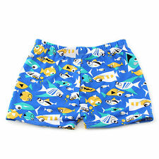 Kids Boys Swimwear Swimming Trunks Surfing S/M/L Fish Swim Shorts Springs Blue
