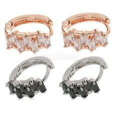 Women Accessories Stud Earings Round Rhinestone Crystal Hoop Earrings Jewelry