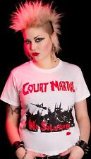 COURT MARTIAL shirt WHITE NO SOLUTION PUNK POGO 77 UK82
