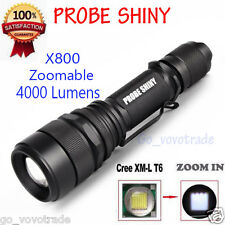Zoomable 4000Lm 5 Modes CREE XML T6 LED 18650 Rechargeable FlashLight Torch Lamp