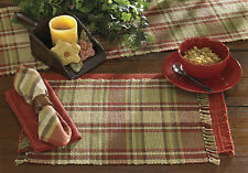 Heartfelt Placemats & Napkins by Park Designs, Warm Country Plaid, Pick Set