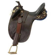 Australian Outrider Saddle Horn Youth Stockman Brown AS181Y