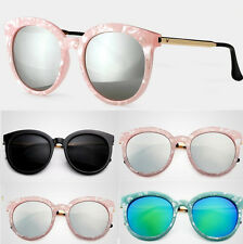 Vintage Shades New Womens Retro Oversized Round Frame Sunglasses Eyewear