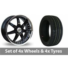 """4 x 18"""" Lenso S73 Black Polished Alloy Wheel Rims and Tyres -  245/45/18"""