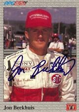 Jon Beekhuis 1991 All World Indy Signed Card Auto
